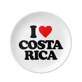 I LOVE COSTA RICA PORCELAIN PLATES