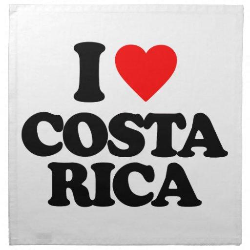 I LOVE COSTA RICA NAPKINS