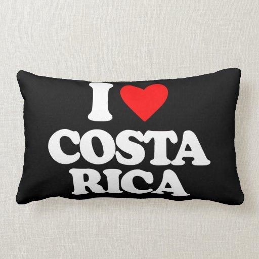 I LOVE COSTA RICA THROW PILLOWS