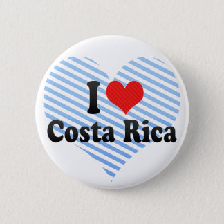 I Love Costa Rica Pinback Button