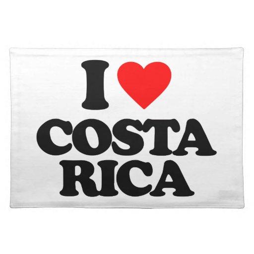 I LOVE COSTA RICA PLACE MAT