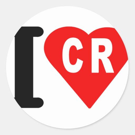 i_love_Costa-Rica.png Round Sticker