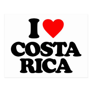 I love costa rica cards greeting photo cards zazzle i love costa rica postcard m4hsunfo