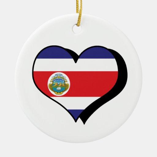 I Love Costa Rica Republic Ornament