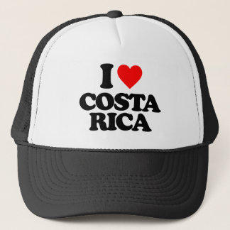 I LOVE COSTA RICA TRUCKER HAT