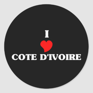 I Love Cote D&Apos;Ivoire Round Stickers