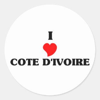 I Love Cote D&Apos;Ivoire Sticker