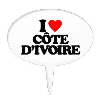 I LOVE CÔTE D IVOIRE CAKE PICKS