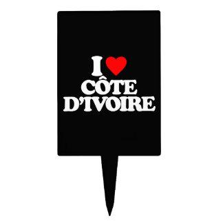 I LOVE CÔTE D IVOIRE CAKE TOPPER