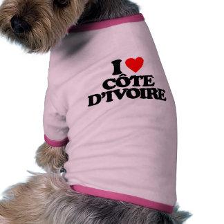 I LOVE CÔTE D IVOIRE DOGGIE T SHIRT