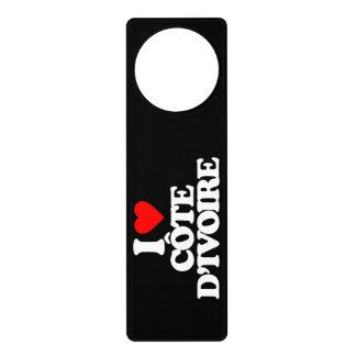 I LOVE CÔTE D IVOIRE DOOR HANGER