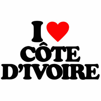I LOVE CÔTE D IVOIRE PHOTO SCULPTURE