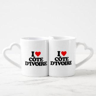 I LOVE CÔTE D IVOIRE LOVERS MUG SETS
