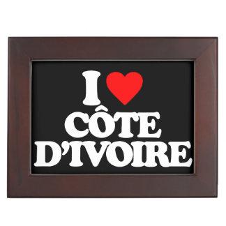 I LOVE CÔTE D IVOIRE KEEPSAKE BOX