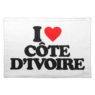 I LOVE CÔTE D IVOIRE PLACE MATS