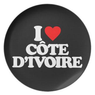 I LOVE CÔTE D IVOIRE PARTY PLATE