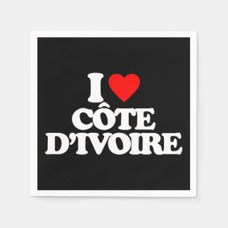 I LOVE CÔTE D IVOIRE DISPOSABLE NAPKIN