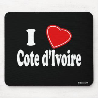 I Love Cote d'Ivoire Mouse Pad