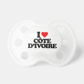 I LOVE CÔTE D'IVOIRE PACIFIER