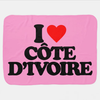 I LOVE CÔTE D'IVOIRE BABY BLANKET