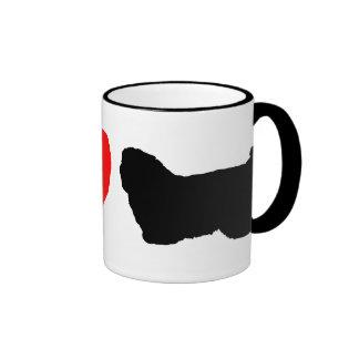 I Love Cotons de Tulear Mug Taza De Dos Colores