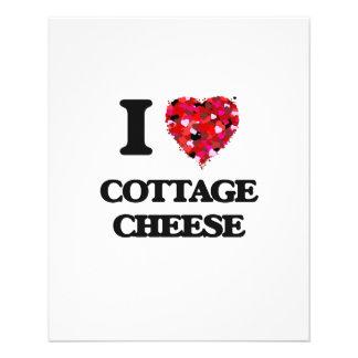 """I love Cottage Cheese 4.5"""" X 5.6"""" Flyer"""