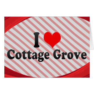 I Love Cottage Grove, United States Stationery Note Card