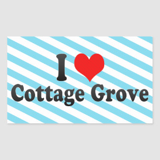 I Love Cottage Grove, United States Stickers