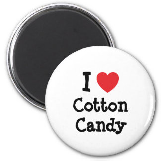 I love Cotton Candy heart T-Shirt 2 Inch Round Magnet