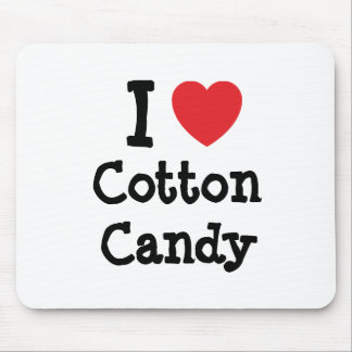 I love Cotton Candy heart T-Shirt Mouse Pad