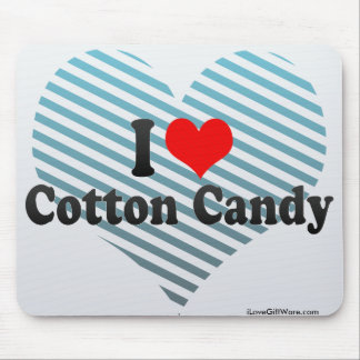 I Love Cotton Candy Mouse Pad