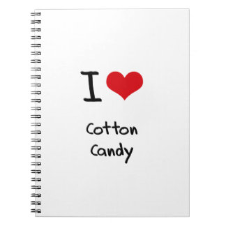 I love Cotton Candy Spiral Note Book