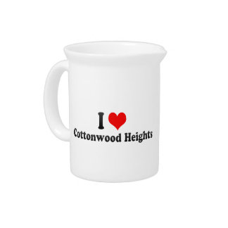 I Love Cottonwood Heights, United States Beverage Pitcher