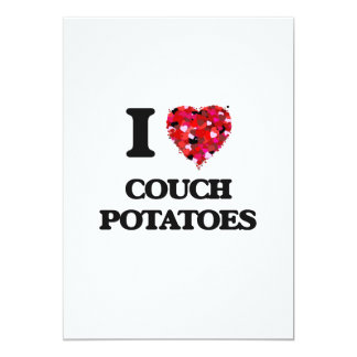 I love Couch Potatoes 5x7 Paper Invitation Card