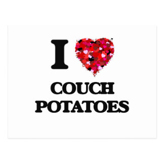 I love Couch Potatoes Postcard