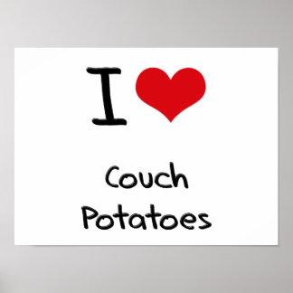I love Couch Potatoes Print