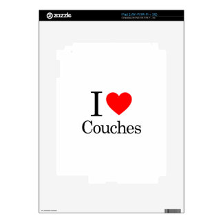 I Love Couches Skin For The iPad 2