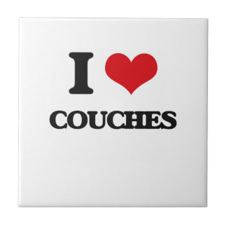 I love Couches Small Square Tile