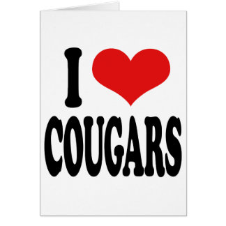 I Love Cougars Greeting Card