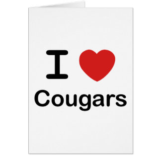 I Love Cougars Card