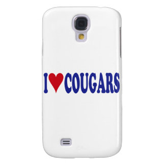 I Love Cougars Galaxy S4 Cover