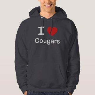 I Love Cougars Hoodie