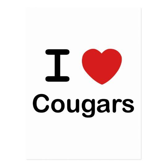 I Love Cougars Postcard