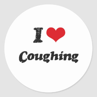 I love Coughing Round Stickers
