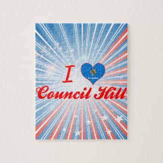 I Love Council Hill Oklahoma Puzzle