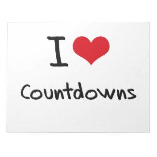 I love Countdowns Memo Notepad