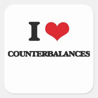 I love Counterbalances Square Stickers