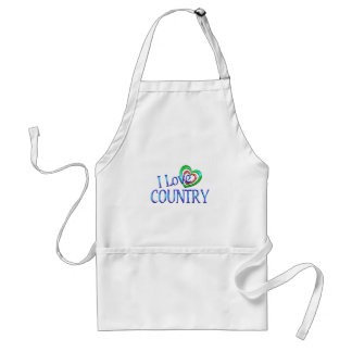 I Love Country Adult Apron
