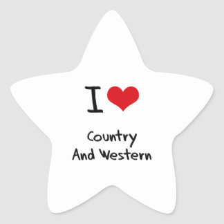 I love Country And Western Star Sticker