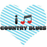 I Love Country Blues Acrylic Cut Outs